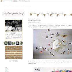 D.I.Y - Paper Birds