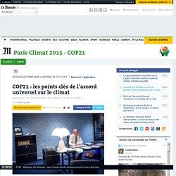COP21: les points clés de l'accord universel sur le climat