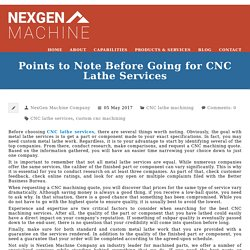 Points to Note Before Going for CNC Lathe Services