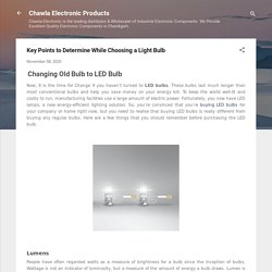 Key Points to Determine While Choosing a Light Bulb