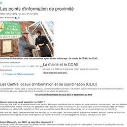 Les points d'information de proximité - CLICs