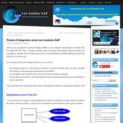 Points d'intégration entre les modules SAP