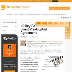 10 Key Points in the New Client Pre-Nuptial Agreement | PR 2.0