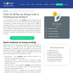 How to Write an Essay - Key Points to Focus on – payforessaywriters.com