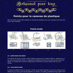Points pour le canevas de plastique