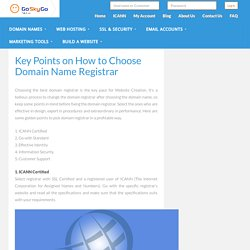 Key Points on How to Choose Domain Name Registrars
