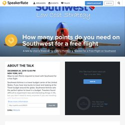How many points do you need on Southwest for a free flight
