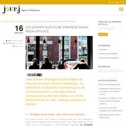 Les 3 points clés d'une stratégie social media efficace