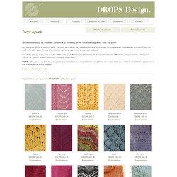 Points de tricot DROPS: Tricot Ajouré