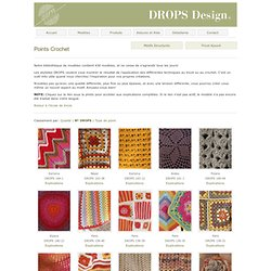 Points de tricot DROPS: Points Crochet