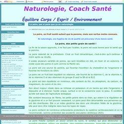 La poire, pas si poire que ça en naturologie. - Naturologie, Coach Santé