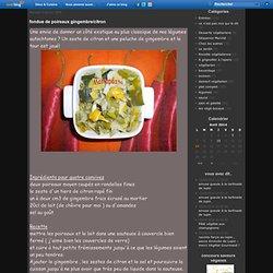 fondue de poireaux gingembre/citron - le chinois et la salamandre