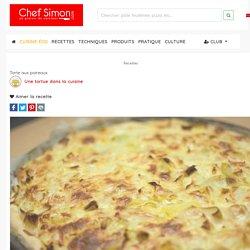 Tarte aux poireaux - Recette par Une tortue dans la cuisine