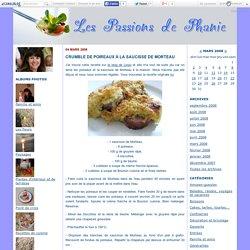 Crumble de poireaux à la saucisse de Morteau - Les passions de Phanie