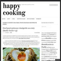 Oeuf pané poireaux vinaigrette au curry {Battle Food # 13}