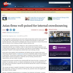 Asian firms well-poised for internal crowdsourcing