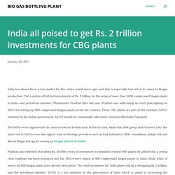 India all poised to get Rs. 2 trillion investments for CBG plants