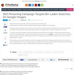 SEO Poisoning Campaign Targets Bin Laden Searches On Google Images