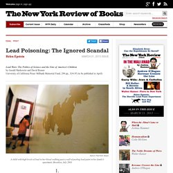 Lead Poisoning: The Ignored Scandal by Helen Epstein