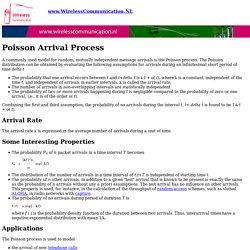 Poisson Arrival Processes