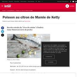 Poisson au citron de Mamie de Ketty