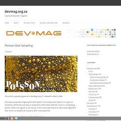Poisson Disk Sampling