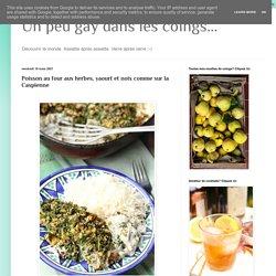 Poisson au four aux herbes, yaourt et noix comme sur la Caspienne