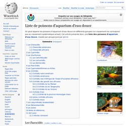 Liste de poissons d'aquarium d'eau douce