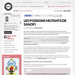 Les poissons mutants de Sanofi
