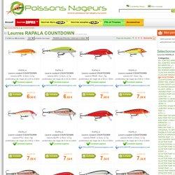Poissons Nageurs : la référence du leurre de pêche RAPALA » Leurres RAPALA COUNTDOWN