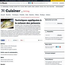 Techniques de cuisson des poissons