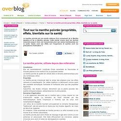 Tout sur la menthe poivrée (propriétés, effets, bienfaits sur la santé)