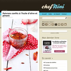 Poivrons confits à l'huile d'olive et piment