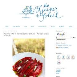 Poivrons rôtis et marinés comme en Italie - Peperoni arrosto marinati