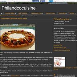 Tarte soleil aux poivrons, chorizo et feta - Philandcocuisine