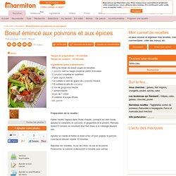 Boeuf émincé aux poivrons et aux épices : Recette de Boeuf émincé aux poivrons et aux épices