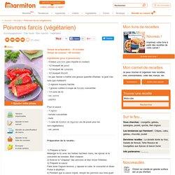 Poivrons farcis (végétarien) : Recette de Poivrons farcis (végétarien)