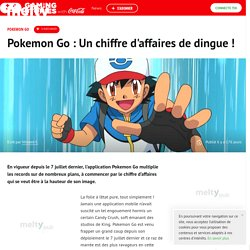 Pokemon Go : Un chiffre d'affaires de dingue !