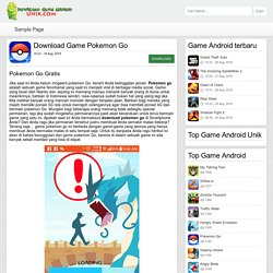 Pokemon Go - Download Game Android Unik – Game android terbaru 2016