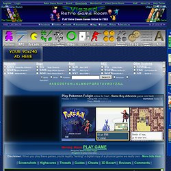 Play Pokemon Fuligin rom hack Game Online - Game Boy Advance free gba