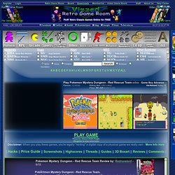 Play Pokemon Mystery Dungeon - Red Rescue Team rom Game Online - Game Boy Advance free gba