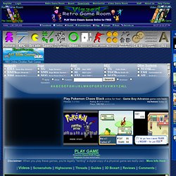 Play Pokemon Chaos Black rom hack Game Online - Game Boy Advance free gba