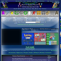 Play Pokemon Physic rom hack Game Online - Game Boy Advance free gba