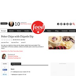 Poker Chips with Chipotle Dip