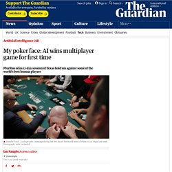 My poker face: AI wins multiplayer game for first time