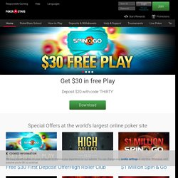 Poker - Online Poker Games at PokerStars - Play Texas Holdem