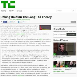 Poking Holes In The Long Tail Theory