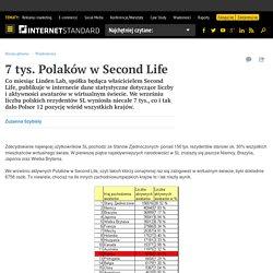 7 tys. Polaków w Second Life - internetSTANDARD