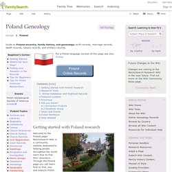 Poland Genealogy