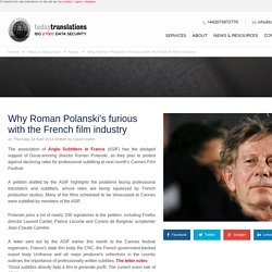 Why Roman Polanski's furious with the French film industry